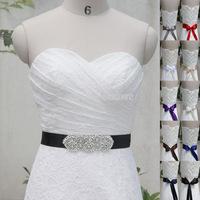 Free Shipping Belt Handmade Crystal Rhinestone Pearl Czech Stones Bridal Gown Sash Formal Wedding Evening Dresses Belt T102015
