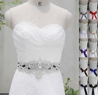 New Arrival Handmade Belt Crystal Rhinestone Beads Czech Stones Bridal Gown Sash Formal Wedding Evening Dresses Waistband WH1220