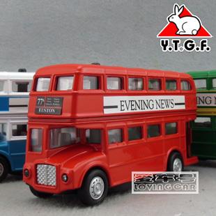 1:48 óptico acústico versão Liangyou britânico clássico London Double Decker Bus liga ônibus modelo de carro de brinquedo(China (Mainland))