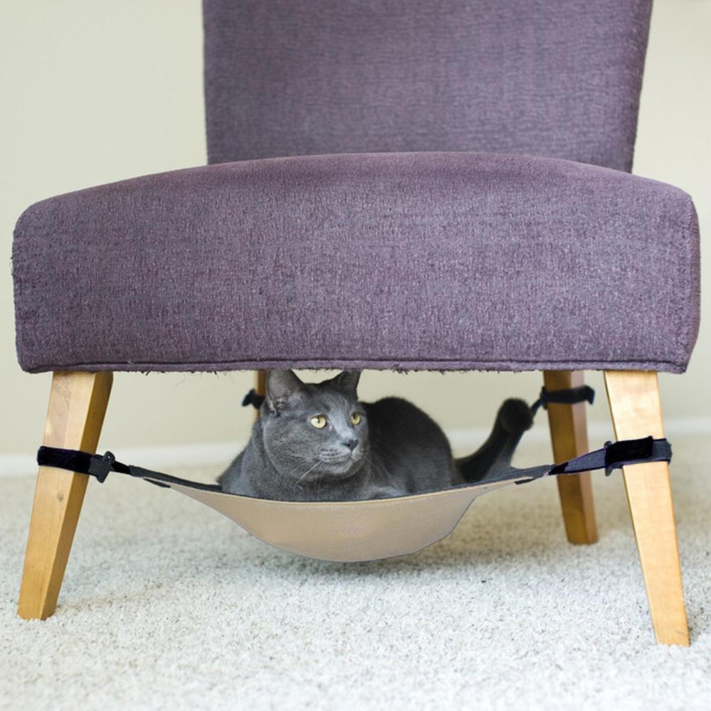 [해외]완전히 조정 가능한 벨크로 고양이 침대 해먹에서 의자 라운..