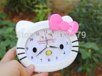 10PCS/LOT 13X10CM Free shipping Alarm Clock Girl Student Hello kitty Alarm Clocks KT156