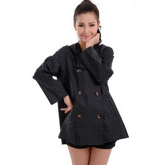 Adult Raincoats Chubasquero Mujer Impermeable Motorcycle Japan South Korea Taiwan Genuine Adult Fashion Women Button Rainwear(China (Mainland))