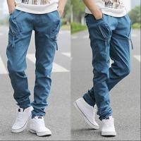 2015 Fashion Joggers Men Slim Fit Overall Harem Pants Korean Casual High Quality Hip Hop Baggy Pants