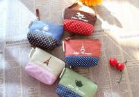 Special Offer:Sweet Retro Paris 11*7CM Lady Girl's Coin Purse & Wallet Pouch Case BAG Women Bags Pouch Makeup Holder BAG Handbag