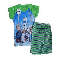 2014 New Summer 2~7Yrs Boys  Pajamas Baby Olaf Pijamas Children Short Sleeve Pyjamas Kids Printed Sleepwears Clothing set