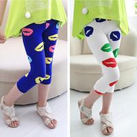 Pls buy any 2pcs in shop 2015  summer Size100~140 girls leggings children pants child trousers seventh mouth legging