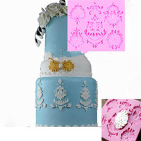 Sculpted Flowers Silicone Mold Wedding Cake Decorating Sugarpaste Baking Mould