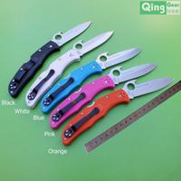 Sale! Nice gift folding knife,pocket knife, VG-10 blade, hook curving, anti-slipped FRN handle W/ pocket clip, free shipping