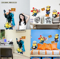 Newest cartoon medium Size 25x70CM funny Despicable Me wall sticker kids for bedroom