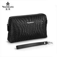 Designer men Clutches 2015 Brand Genuine cowskin zipper hgih quality big wallet Black/Blue bags  free shipping MBS701731
