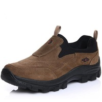 2015 Fashion suede leather men's flats New Leather shoes Man sneaker Autumn quality outdoor Hiking shoes size 39-44