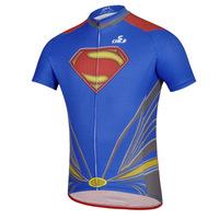 Superman shirt with short sleeves Jersey short sleeve shirt men's summer cycling professional sportswear