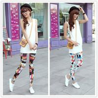 9256 New Spring & Summer Hot Women Leggings Skinny Pants Elastic Leggins Sport Leggings Girl Casual Jeggings