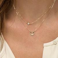 Fashion Women letter U double link chain short/choker necklace pendant clavicle necklace