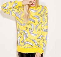 Sudaderas Punk Design Sport Wear New Women Hoodies Sweatshirts 3D Pullovers Sports Suit Banana Printed Tracksuits S17-461