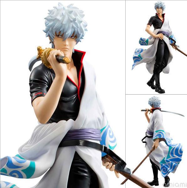 J.G Chen Silver Soul Gin Tama Gintama Sakata Gintoki Brinquedos PVC Action Figure Colletion Model Toys 22cm With Retail Box(China (Mainland))