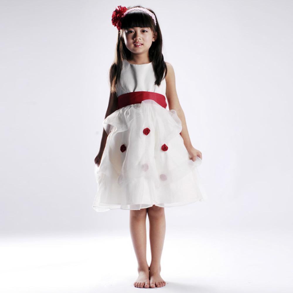 Ellie Bridal marca nova europa 2014 da menina de flor saia vestido da menina princesa traje vestido(China (Mainland))