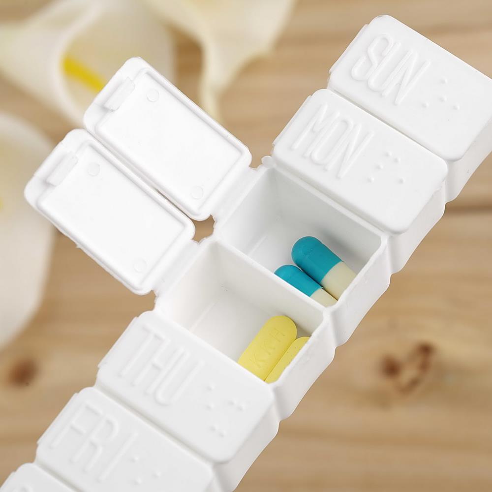 G104 New Mini Week 7Days Medicine Pill Drug Storage Box Case Pillbox Container Hot Worldwide(China (Mainland))