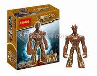 10pcs Decool 0198 Guardians of The Galaxy Groot Big tree man block figure Action Figures Minifigures Building Blocks toys