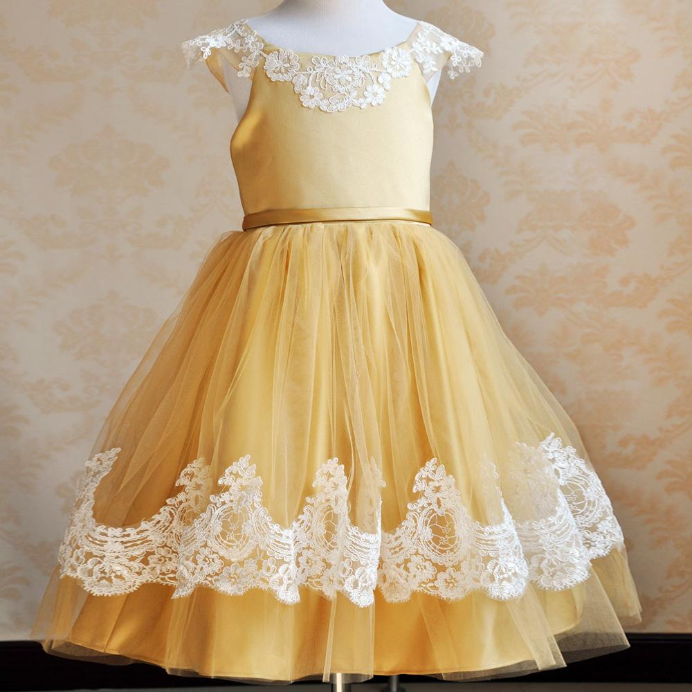 S de marca do laço da flor vestido da menina saia de europeus e americanos performance de palco infantil traje da princesa saia(China (Mainland))