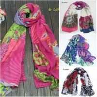 2015 New Spain desigual brand scarf Winter scarfs Women Cotton cashmere Printed Long shawls and scarves bufanda manta DF04