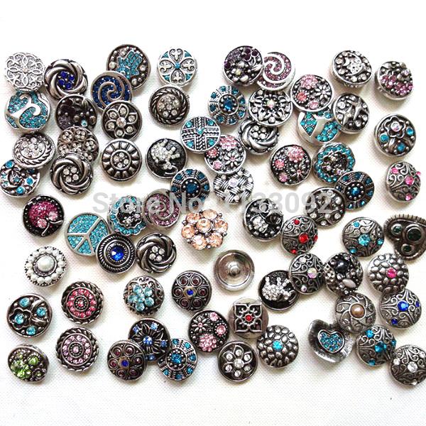 ... Charm Rhinestone Styles Button Ginger Snaps Jewelry(China (Mainland