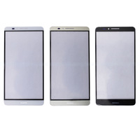 Free shipping 2015 Hot Sale White/Black/Gold Replacement Part Front Outer Screen Glass Lens Panel For Huawei Mate 7