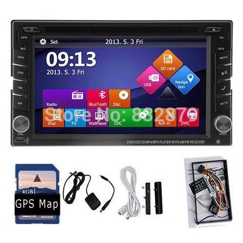 Автомобильный DVD плеер HSP 100% 2 din DVD gps/+ + Cad автомобильный dvd плеер zhoon android 4 2 2 dvd gps xtrail nissan x trail