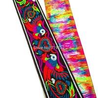 5cm 50mm 2'' chinese china folk phoenix bird of wonder national jacquard woven ribbon lace webbing curtain coloful trim borders