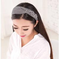 Girls Headband Plaid Hairband Baby Girl Head Wear Fashion Cute Princess Rabbit Ear Headband