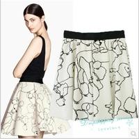 Puppy Printing Skirt Elastic Waist Skirts Women Summer Casual Shirt Free Shipping