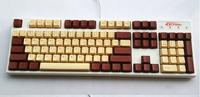108/104 Keycap Key Caps Keypress Coffee/Chocolate/Golden PBT Top Ingraved/Inside Ingragved for Mechanical Keyboard