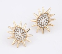 B E0036 2013 New Arrival Free shipping rhinestones luxurious Earring for lady jewelry Factory Price