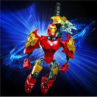 2015 New The Avengers Super Hero Marvel Iron Man Action Figure ABS Plastic toys boys toys children best gift