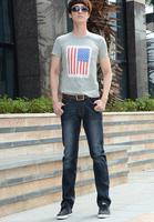 Jeans Cotton Flax plus thick velvet business models Slim yards straight pants