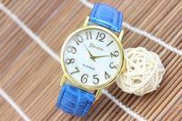 top selling fashion lady vogue shell design quartz movement geneva leather watch