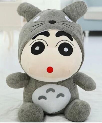 new arrival 35cm totoro carton movies & crayon shin-chan totoro plush toy totoro soft doll(China (Mainland))