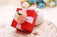 100pcs Europe Style Red Wedding Favor box  gift bag candy box