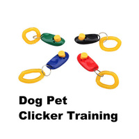 New Dog Pet Click Clicker Training Trainer Aid Wrist Free Shipping LY#4