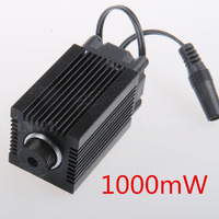 1000mW blue-violet laser modules Lens with holder Heat sink for mini laser engraving machine high-power wave length 450nm focus