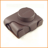 Free shipping Coffee High Quality PU Leather Camera Case Bag Cover Guard for Fujifilm Fuji X100 X100s Finepix