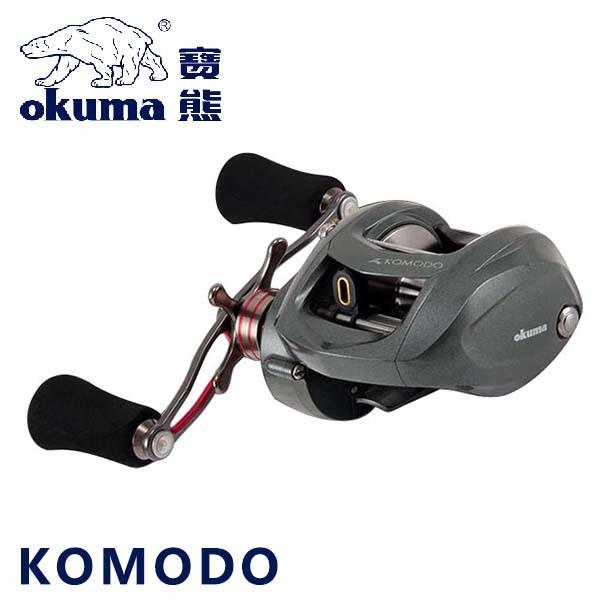 Free EMS Okuma Brand KOMODO KDR-364LX 10+1BB Left Hand Bait Casting Fishing Reel 6.4:1 low speed Baitcaster Reel max drag 11.3kg(China (Mainland))