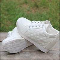 2015 Black White fashion Hidden Wedge Heels Casual elevator shoe Women's shoes Sneaker Sports Shoes For Women WA4027