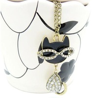 B N00350 Free Shipping ! new Trend fashion cat necklace Factory Price