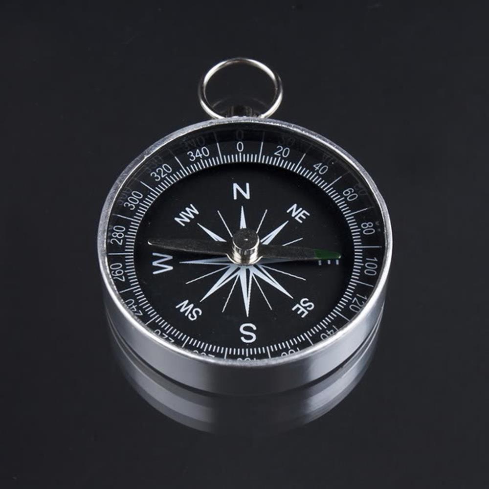 1pcs Lightweight Aluminum Camping traval Mini Compass Hiking Navigation Hot Worldwide(China (Mainland))