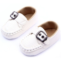 Baby Boy Girl Toddler Soft Faux Leather Shoes Comfort Anti Slip Bottom 0-12M