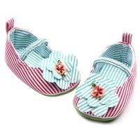 Sweet Toddler Girls Casual Rose Red Anti-slip Crib Shoes Cotton Prewalker New