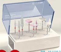 Dental lab porcelain polishing kit  - for dental low-speed straight handpieces use - 9 pcs