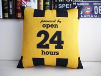"Brand New 24 Hours Pop Bar Throw Pillow Case Home Decor Cushion Cover Square 18"" 45cm"