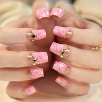 Boutique pink false nails art decoration,woman false nails manicure art ornament display,4.20814.Free shipping